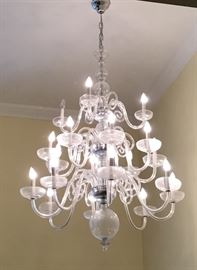 Large Modern three tier 20 light chandelier
