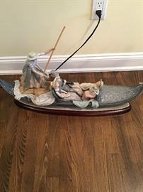 "Large Lladro gondola 31"" wide"