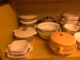 Corning Ware, Vintage Kitchen Ware