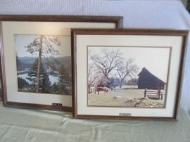 Arnfield prints in frame