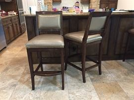 "Sturdy and elegant bar chairs - seat 30"", back 44.5, 20""D x 20""W"