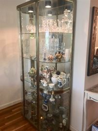 Mid-Century glass display cabinet