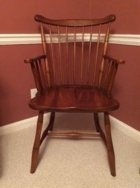 Stickley Windsor captains / arm chairs -- shown one of two