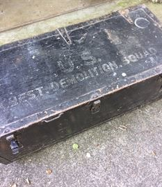 WWII Army wood chest