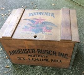 wooden Anheuser - Busch beer case