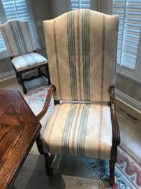 INTERIOR CRAFT ARM CHAIRS-2 ARM AND 6 SIDE-RUG NOT FOR SALE