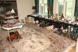 Oriental Carpet and Overview of Living Room