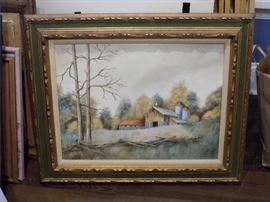 One of many original framed paintings