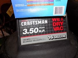 Wet Dry Vac comes with extra filter and bags