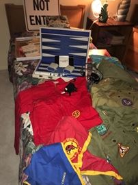 Vintage Boy Scout items and games