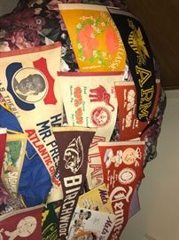 Amazing collection of VINTAGE pennants