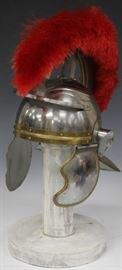 20TH C. ROMAN STYLE METAL HELMET