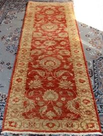 BAROQUE COLLECTION FLORAL RUNNER, WOOL & COTTON