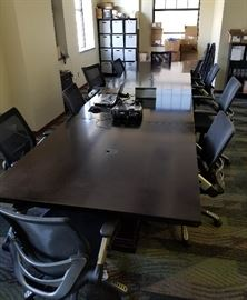 """Large conference table, can be split into four sections, each section 47.5"""" x 47.5"""""""