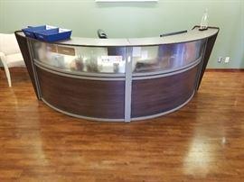 U-shaped receptionist desk, about 9ft across