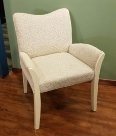 Upholstered white guest chair (2 count)