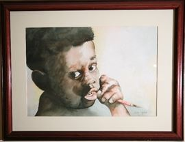 "Watercolor, ""The Future"", by Carlton Jackson"