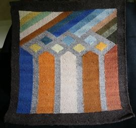 Abstract design weaving from Equador