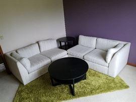 2 nice black tables and sofa