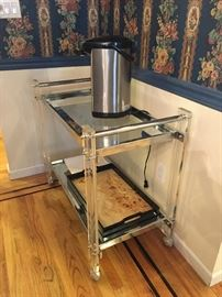 Mid-Century Lucite bar/tea cart