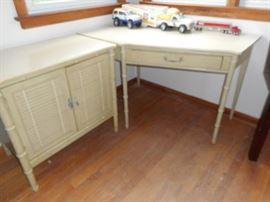 2 pc corner table,cabinet
