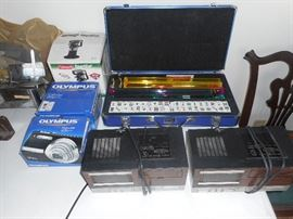 cassette recorders,majong set