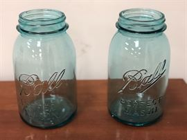 #3 & #7 antique Ball jars