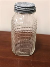 Antique jar with lid