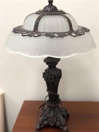 Tiffany like glass lamp