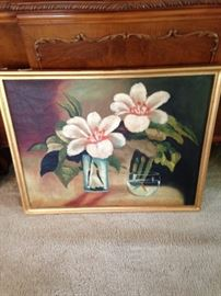 BUY IT NOW--flower and goldfish painting--$40--sophia.dubrul@gmail.com