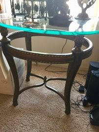 Oval Hammery End Table