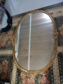 large gold gilded mirror