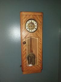 antique Art Nouveau period wall clock