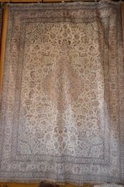 9 Meter ( 11ft x 9ft ) Hand Knotted Pure Silk Persian Gom Rug , Signed . Retail: $ 14,000 , Lowest Price: $ 6,500