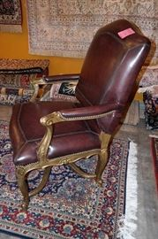 Solid Wood Carved Arm Chair $ 350