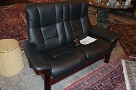 Scandinavian Design Top Grain Leather Recliner Seat , List for $ 3600 , Lowest Price : $ 1495