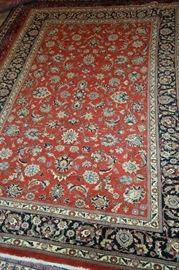 Hand Knotted Persian Sarough 5 Meter ( 9ft x 7 ft ) Silk And Wool Rug , Lowest Price $ 1295