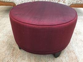Ruby silk ottoman $185