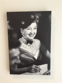 Hedda Hopper wrapped canvas  $160