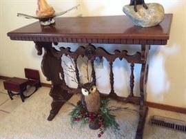 Vintage Spindle Side Table