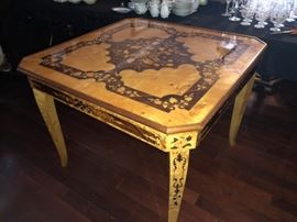 Inlaid Game Table (Top lifts off for more game boards)