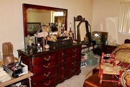 Bowed Front Dresser, Lady's Vintage Shoes Plus