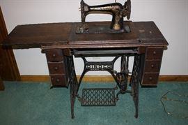 Beautiful old singer sewing machine