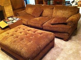 Sofa and large stool, movies, dvds