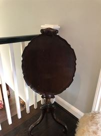 tilt top table shown with table top tilted