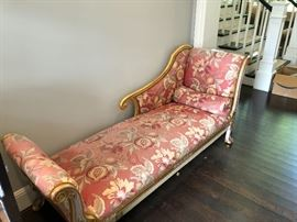 Antique swan fainting couch