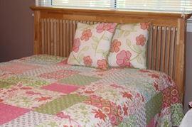 We have  lovely light wood bedroom furniture.