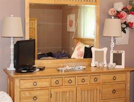 Dresser with mirror.