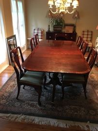 Hickory Chair Dining Table & chairs