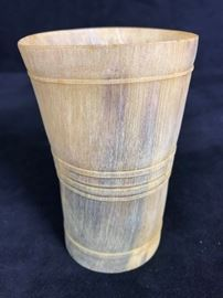 Carved Horn Cup Antique